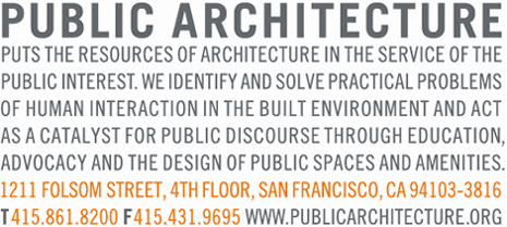 Public Architecture's mission statement/manifesto is also their logo.