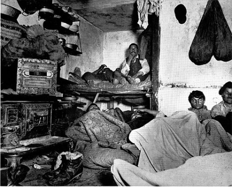 A New York tenement in 1890. From How the Other Half Lives: Studies among the Tenements of New York (1890) by Jacob Riis