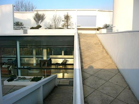 Villa Savoye roof garden. Photo by Rory Hyde (Flickr)
