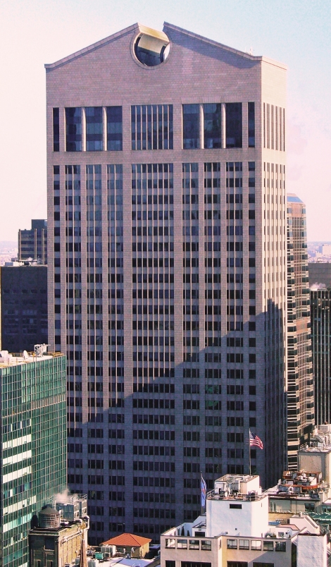The Sony Building (formerly AT&T building) in New York City, 1984, by Philip Johnson.